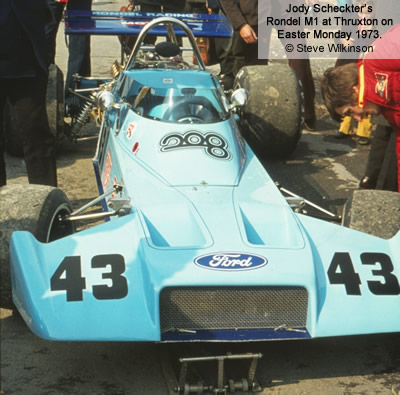 Jody Scheckter's Rondel M1 at Thruxton on Easter Monday 1973. Copyright Steve Wilkinson  2019. Used with permission.