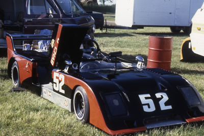 Don Chab's Chevron B19/26 in the paddock at Mid-Ohio in June 1978. Copyright Mark Windecker 2009. Used with permission.