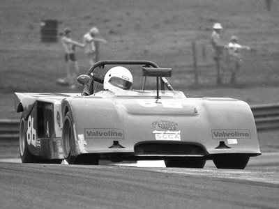 David Giorgi's Chevron B19 at Mid-Ohio in 1982. Copyright Mark Windecker 2005. Used with permission.
