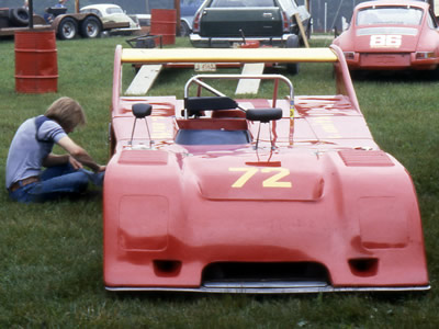 Chuck Smith's Chevron B19/21 in the paddock at Mid-Ohio in June 1979. Copyright Mark Windecker 2009. Used with permission.