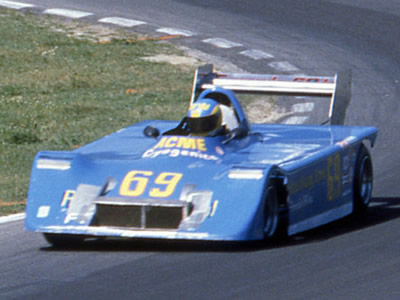 Bertil Roos in his second Chevron B27-based Can-Am car, at Road America in 1980. Copyright Mark Windecker  2005. Used with permission.
