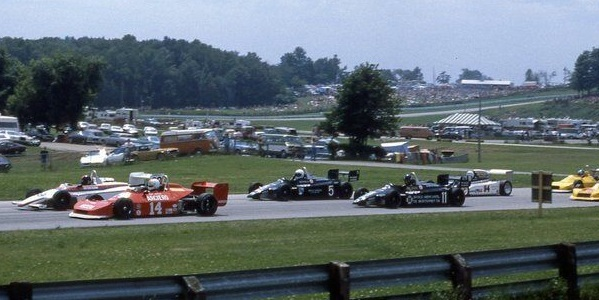 The Formula Super Vee field at Road America in 1980.  Copyright Mark Windecker 2015.  Used with permission.