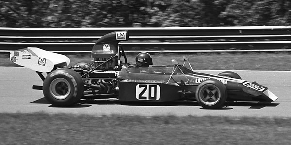 Tom Jones in his M22 at Mid-Ohio in 1974. Copyright Mark Windecker 2005. Used with permission.