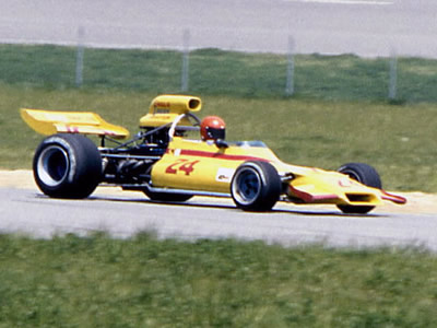 Evan Noyes in his GM1 at Michigan in 1973.  Copyright Mark Windecker 2005.  Used with permission.