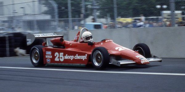 Ed Pimm in his Ralt RT5/81 at Detroit in June 1982.  Copyright Mark Windecker 2014.  Used with permission.