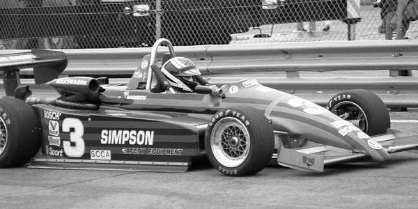 Paul Radisich on his way to victory at Detroit in 1987 in his Ralt RT5.  Copyright Mark Windecker 2016.  Used with permission.