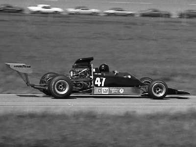 Eddie Miller in his ex-Adamowicz T330 HU9 at Michigan early in 1973.  Copyright Mark Windecker 2004.  Used with permission.